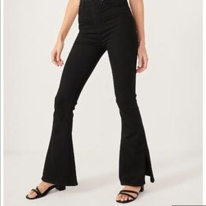Abercrombie ultra high rise flare jeans